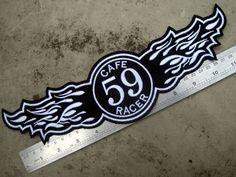 Esso man 3 inch patch Rocker Ace 59 Club BSA Norton Triumph Ton Up Cafe Racer