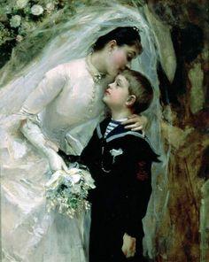 La boda by Raimundo de Madrazo y Garreta (1841-1920).