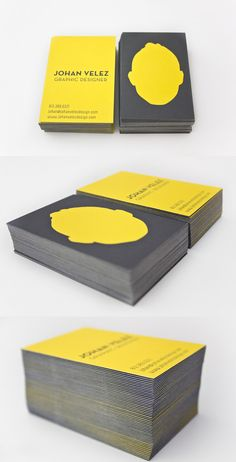 Self-Identity Yellow Business Card Design ... click pin to see more cool business cards