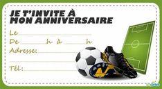 Encore une invitation anniversaire football à imprimer, qui vient s'ajouter à la collection d'invitations sur le thème du foot et qui va sûrement plaire au