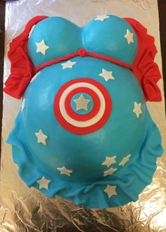Captain America Baby Shower cake