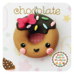 Romantic easter gifts for him and her easter and gift kawaii donut charm pendant bow center negle Images