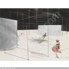 CONSTANT, NIEUWENHUYS , 1920-2005.  NEW BABYLON (1969) Gouache, crayon, ink and silver paint on paper