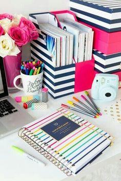Desk decor home or school