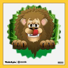 Hungry Lion Cartoon  Wall Decal