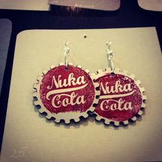 Nuka Cola Earrings on Pyrkon