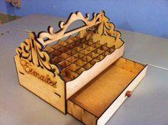 cesta bandeja para esmaltes e bijuterias em mdf
