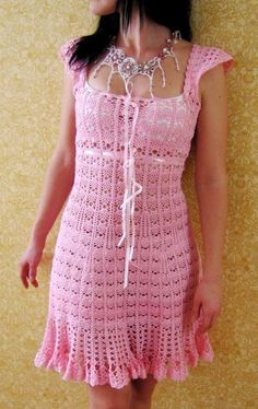 Free crochet patterns and video tutorials: Free crochet summer dress pattern symbol diagrams