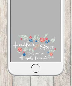 Wedding Snapchat Filter  Floral Happily Ever After by TessCreative