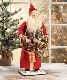 "26"" Bethany Lowe Father Christmas Peddler Santa Claus Figure"