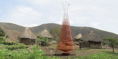 Architecture and Vision is a company by Arturo Vittori  and  Andreas Vogler. They created WarkaWater, a majestic palm-like structure, designed to harvest water from the air.