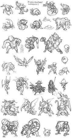Saga / Final Fantasy Legend Monsters