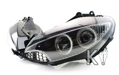 Yamaha YZF R6 Angel Eye HID Projector Custom Headlight Assembly  2003-2005