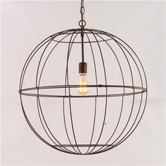 Young House Love Large Wire Globe Lantern $89