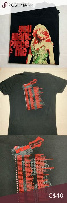 """Britney Spears Tour Concert T-Shirt Size L Britney Spears Tour Concert T-Shirt Size L """"You Want A Piece of Me"""" 2009 Tops Tees - Short Sleeve Levis T Shirt, Britney Spears Tour, Boys T Shirts, T Shirts For Women, American Eagle Tops, Concert Tees, Pregnancy Shirts, Workout Tops"""