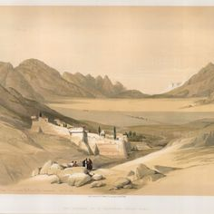 David Roberts, 'Chapel of the Convent of St. Catherine, on Mount Sinai.', 1849.