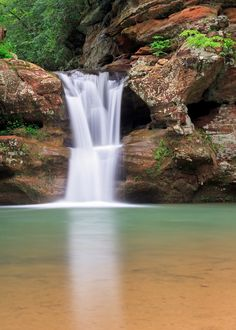 Old Man's Cave Upper Falls Water Fasting, Waterfall, Camping, Outdoor, Outdoors, Outdoor Camping, Outdoor Living, Garden, Campers