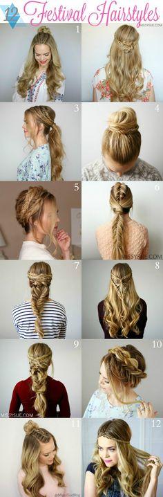 12 peinados Festival //  #Festival #Peinados