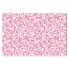 Pink Hearts Pattern - 10lb Tissue Paper, White  Cute for Valentine's Day or any other romantic occasion!  By NewParkLane on Zazzle