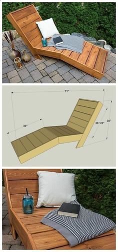 Plans of Woodworking Diy Projects - DIY Outdoor Chaise Lounge :: FREE PLANS at buildsomething.com Get A Lifetime Of Project Ideas & Inspiration! #woodworkdiy #WoodworkingDIY #woodworkingprojects