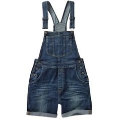 Fat Face Vintage Dungaree Shorts, Denim