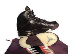78cf03b7573d NIKE AIR JORDAN 5 V RETRO PREMIUM BORDEAUX PINNACLE LEATHER SNEAKER 881432  612  jordansdaily