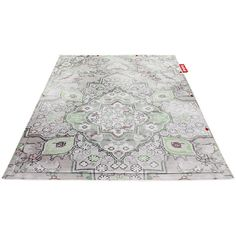 Fatboy Non-Flying Carpet - Persian - Lime/Grey ($93) ❤ liked on Polyvore featuring home, rugs, flooring, multi, lime green rug, persian design rugs, persian style rugs, gray rug and grey area rug