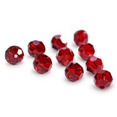 5000-4-si Swarovski Crystal 4mm Round Siam Beads (Package of 24 Beads)