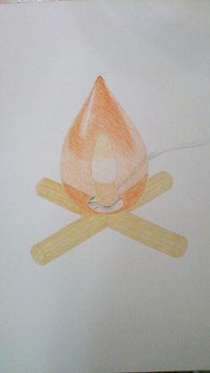 Lámpara-hoguera
