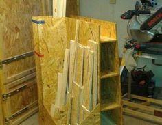 Endlich ist das Restholz beieinander. Ab in die dafür vorgesehene Ecke!