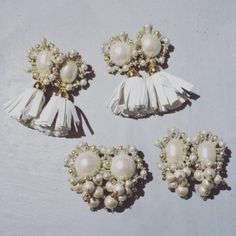 RS - CHOCOLATE CAMPBELL Bridal Accessories, Beading, Crochet Earrings, Pearl Earrings, Chocolate, How To Make, Handmade, Inspiration, Beauty