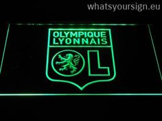 Olympique Lyonnais - LED neon sign made of the highest quality clear acrylic and bright colorful illumination. The neon sign looks exactly the same from every angle thanks to the carving with the modern 3D laser engraving technology. This LED neon sign is a great gift idea! The neon is provided with a metal chain for displaying. Available in 3 sizes in following colours: Purple, White, Blue, Yellow, Red, Orange and Green!