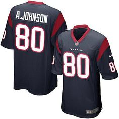 ee6cf1dee Shop for Official Youth Nike Houston Texans Andre Johnson Elite Team Color  Navy Blue Jersey. Get Same Day Shipping at NFL Houston Texans Team Store.