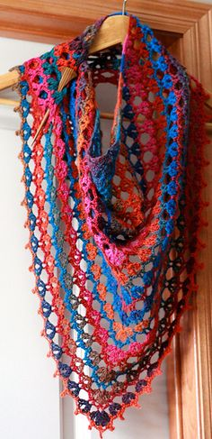 Crochet Scarf Pattern Variegated Yarn : 1000+ images about crochet stoles on Pinterest Free ...