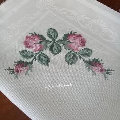 Cross Stitch Flowers, Filet Crochet, Rose Bouquet, Instagram, Scrappy Quilts, Crocheting Patterns, Cross Stitch Embroidery, Towels, Craft