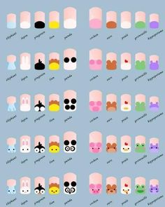 nail art tutorial / nail art designs + nail art + nail art designs for spring + nail art videos + nail art designs easy + nail art designs summer + nail art diy + nail art tutorial Manicure Nail Designs, Nail Manicure, Diy Nails, Nails Design, Kids Manicure, Fingernail Designs, Cute Nail Art, Nail Art Diy, Cute Nails