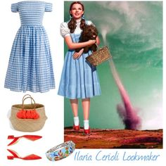 the wizard of Oz by ilaria-lookmaker on Polyvore featuring moda, J.Crew, Paul Andrew and Belle Etoile