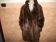 Splendido giaccone di Pelliccia castorino Canadese a pelo lungo Seffield London Colore Castano di affaryonline su Etsy