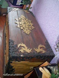 Декор предметов Выпиливание СТАРЫЙ СУНДУК Дерево Клей Краска Фанера фото 4
