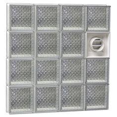 Redi2set Diamond Glass Pattern Frameless Replacement Glass Block Windo