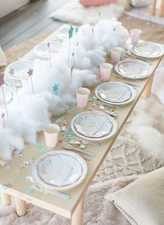 Birthday Party Decorations 487444359666890386 - This adorable dream themed sleepover birthday party celebrated a super special 4 year old. Jackie, talented creative behind Penelope Pots Floral Design, created the magical party for her daughter Penelope Sleepover Birthday Parties, Unicorn Birthday Parties, Baby Birthday, 2 Year Old Birthday Party Girl, Unicorn Party Decor, Fairytale Birthday Party, Teen Sleepover, 13th Birthday, Themed Parties