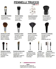 The brush dictionary - Beauty Make-Up Makeup Over 50, Makeup 101, Eye Makeup Brushes, Hair Makeup, Beauty Box, Beauty Make Up, My Beauty, Beauty Hacks, Make Up Guide