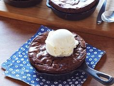 Skillet Brownies: Who says skillets are just for frying eggs? Cap off your dinner party with Ina Garten's brownies baked and served in mini skillets for both a rustic presentation and less cleanup.