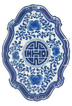 Chinese Porcelain Tray OneKingsLane