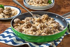You like one-pan recipes. They like creamy, stroganoff-style dishes. And everybody likes meatballs! This dish is a win, win, win.