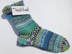 Socken - Fair Isle Socken Makani Gr. 40/41 - ein Designerstück von Lotta_888 bei DaWanda