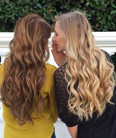 Dirty blonde 18 20 160g hair extensions extensions and luxy hair besties zanejurjane and katrinalipska rocking their ombre chestnut and dirty blonde luxy hair extensions in effortless waves pmusecretfo Images