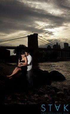 Kathryn + Fabian's #Engagement Photos in Brooklyn, NY www.getstak.com