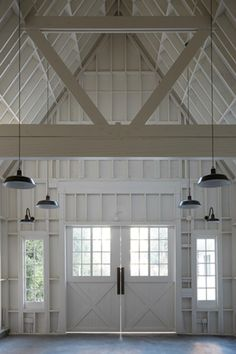 amazing barn/home interior in all-white - great space! | home