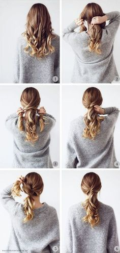hair up for work \ hair updos . hair updos for medium hair . hair up . hair updos for long hair . hair up for work . hair updos for weddings Medium Hair Styles, Curly Hair Styles, Hair Styles Work, Hair Styles Everyday, Style Hair, Hair Styles Steps, Chic Hairstyles, Hairstyle Ideas, Wedding Hairstyles